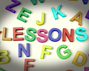 Lessons Written In Plastic Kids Letters